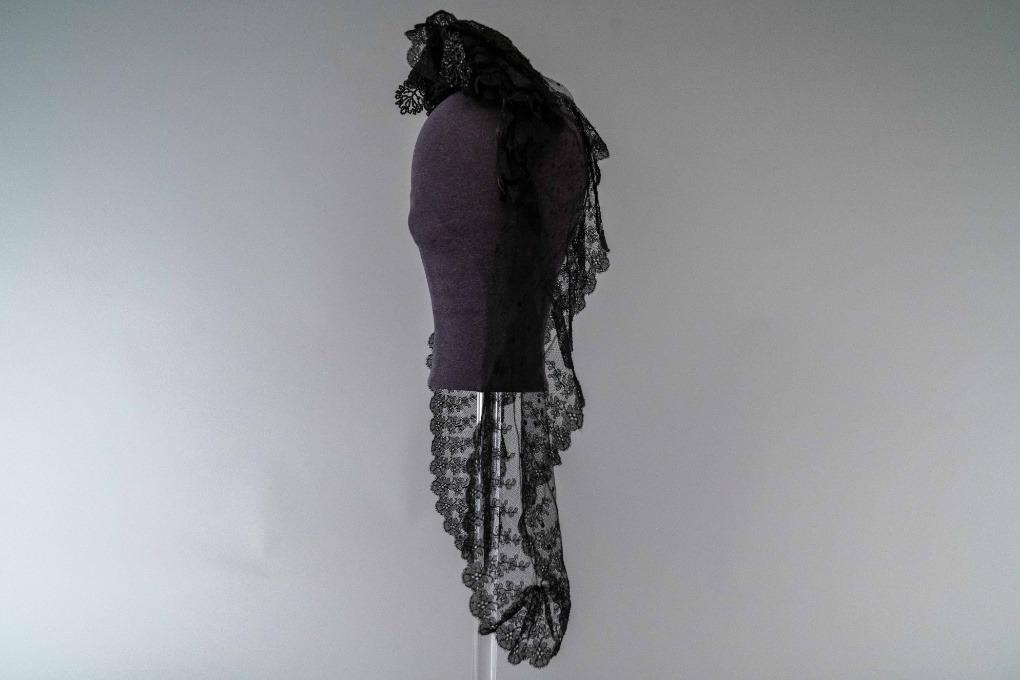 Photo of Black Lace Mourning Bonnet